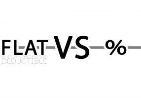 Flat vs. Percentage Deductible